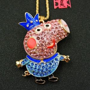 Crystal Princess PEPPA PIG Pendant Necklace